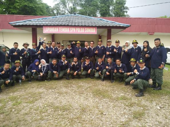 Balai Ksda Sumatera Barat Menyelenggarakan Pelatihan Menembak Tahun 2019